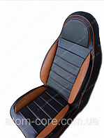 Чехлы на сиденья ДЭУ Сенс (Daewoo Sens) (универсальные, кожзам, пилот СПОРТ), фото 1