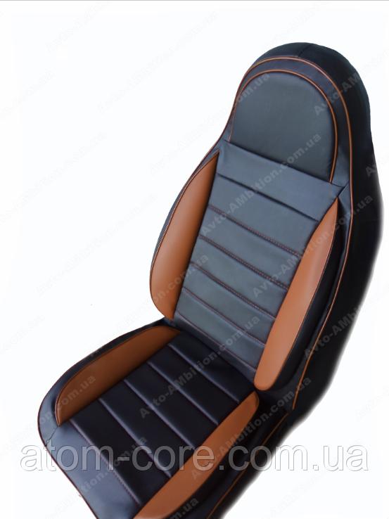 Чехлы на сиденья ДЭУ Нексия (Daewoo Nexia) (универсальные, кожзам, пилот СПОРТ)