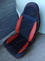 Чехлы на сиденья Форд Коннект (Ford Connect) (универсальные, кожзам, пилот СПОРТ)