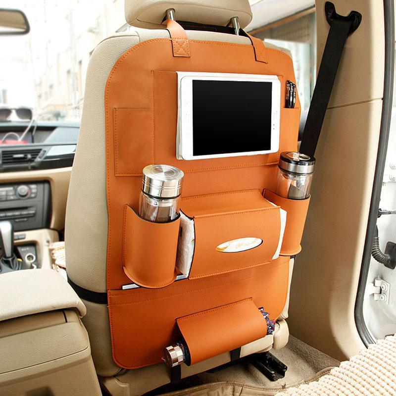 Автомобильный кожаный органайзер для заднего сиденья Folding Back Handing Bag