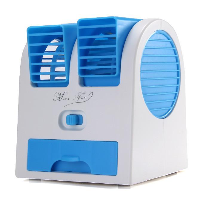 Mini Fan мини кондиционер USB голубой