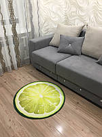 Ковер 3D Лайм, диаметр 80 см Lime