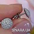 Серебряные серьги пуссеты, фото 2