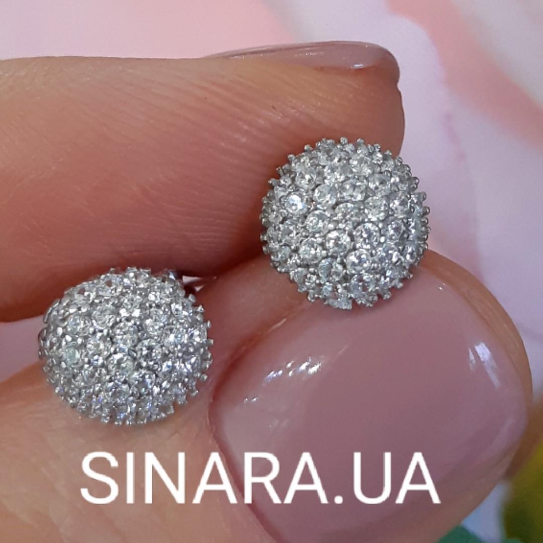 Серебряные серьги пуссеты