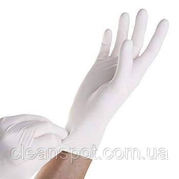 Перчатки белые нитриловые Nitrile Supersoft 100 шт. в упаковке размер XS