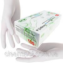 Перчатки белые нитриловые Nitrile Supersoft 100 шт. в упаковке размер M, фото 2
