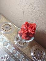 Роза 2,5 см из фоамирана реалистичная красная