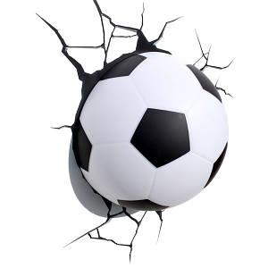 3D декор Светильник футбольный мяч в стене