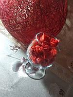 Роза 3,5 см из фоамирана реалистичная красная