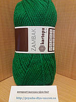 Акриловая пряжа (100%- акрил, 100 г/133 м) Kartopu Zambak K416 (ярко-зелёный)