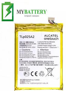 Оригинальный аккумулятор АКБ батарея для Alcatel 7047D One Touch Pop C9/ TLp025A2 2500 mAh 3.8 V