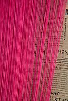 Шторы - Нити Однотонные / Ярко-розовый