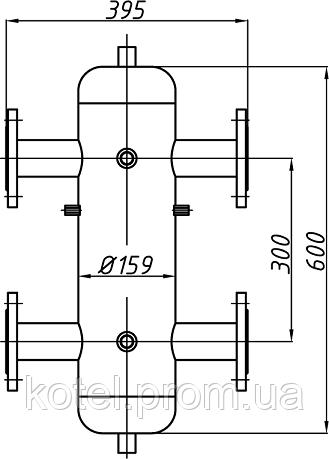Схема и габариты гидрострелки Termojet СК-29