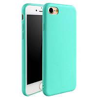Чехол для Apple Iphone 6 / 6S силикон soft touch бампер мятно-голубой