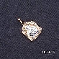 "Кулон Xuping ладанка ""св. Матрона"" 31х25х20мм позолота 18к"