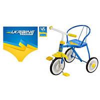 Трехколесный велосипед Profi Trike LH-701UKR-YB ( Желто-голубой)