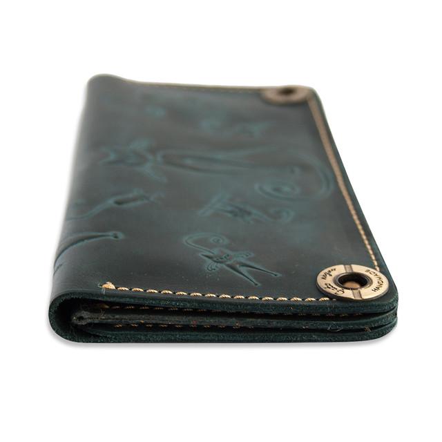 23294441c4a6 Кошелек кожаный, бумажник, женский Gato Negro Catswill Blue ручной ...