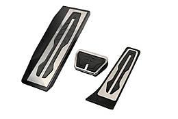 BMW 3 алюминиевые тюнинг накладки на педали BMW БМВ 3 (F30/31) АКПП (3шт)