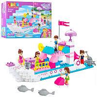 Конструктор для малышей Друзья Friend - Морская прогулка на яхте, конструктор для девочки JDLT 5236 копия лего