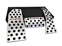 Honda Civic алюминиевые тюнинг накладки на педали HONDA Хонда Civic АКПП