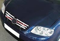 Накладки на решетку Volkswagen Polo (2005-2009) (6 шт)