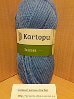 Акриловая пряжа (100%- акрил, 100 г/133 м) Kartopu Zambak K535 (голубой)
