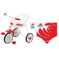 Трехколесный велосипед Profi Trike LH-701UKR-WR  (Бело-красный)