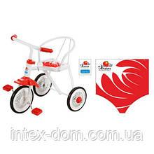 Триколісний велосипед Profi Trike LH-701UKR-WR (Біло-червоний)