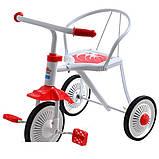 Трехколесный велосипед Profi Trike LH-701UKR-WR  (Бело-красный), фото 2