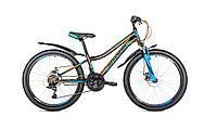 """Велосипед Intenzo Nitro 24"""" черно-сине-оранжевый"""