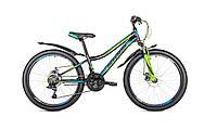 """Велосипед Intenzo Nitro 24"""" черно-сине-зеленый"""