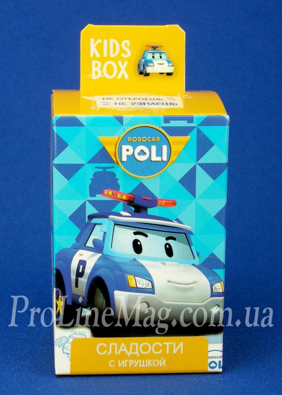 Кидз Бокс Robocar Poli мармелад с игрушкой в коробочке