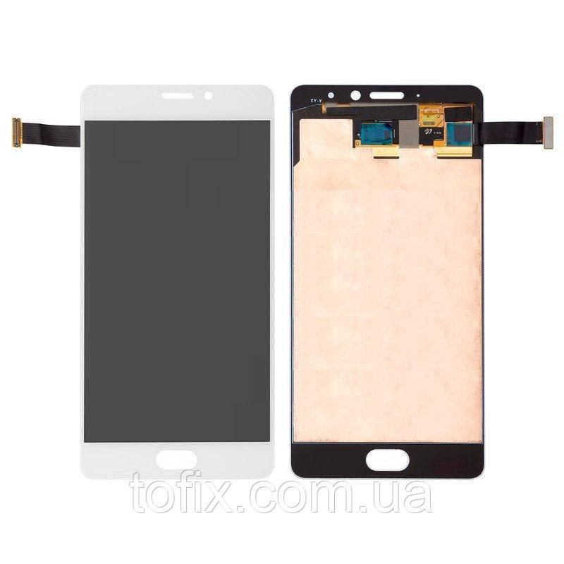 Дисплейный модуль (экран и сенсор) для Meizu Pro 7 Plus, белый, оригинал (Amoled)