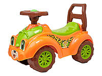 Машинка толокар 3268 Леопардик Оранжевая