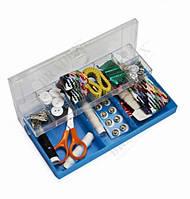 Набор для шитья БИЛОШВАЧКА 100 предметов в пластиковой коробке