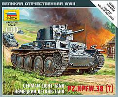 Немецкий легкий танк PZ-38 (T). 1/100 ZVEZDA 6130