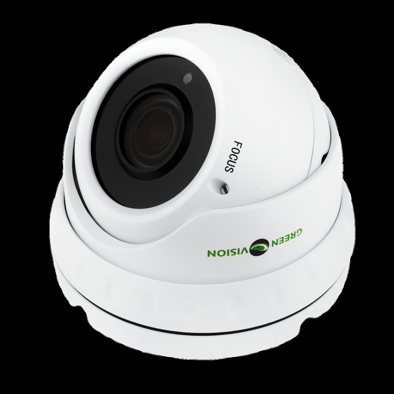 Купольная IP камера для внутренней установки GreenVision GV-002-IP-E-DOS24V-30