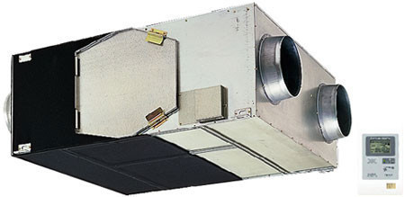 Канальная приточно-вытяжная установка с рекуператором Lossnay LGH-80RX5