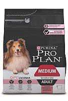 Pro Plan ADULT MEDIUM Sensitive Skin OPTIDERMA для взрослых собак средних пород с лососем и рисом 14кг
