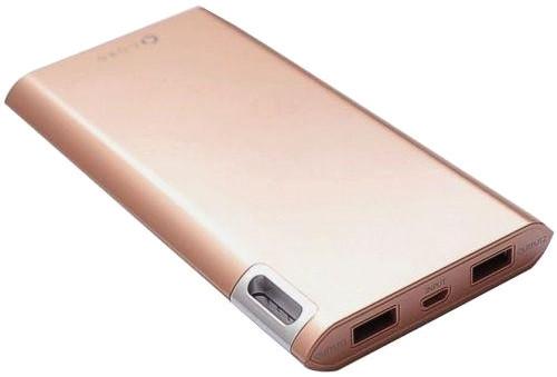 Портативное зарядное устройство Power Bank Cord J208 8000mAh Gold Гарантия 12 месяцев