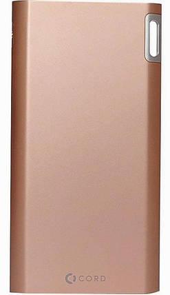 Портативное зарядное устройство Power Bank Cord J208 8000mAh Gold Гарантия 12 месяцев, фото 2