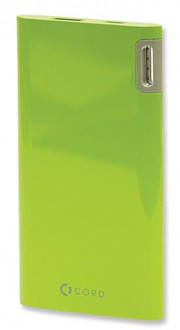 Внешний аккумулятор Power Bank Cord J205 5000mAh Green Гарантия 12 месяцев