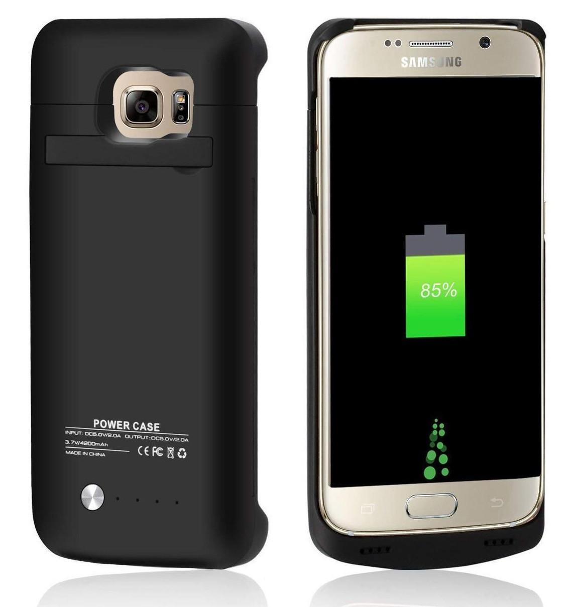 Power Bank Battery Case SAMSUNG (G928) S6+ 5200mAh Black Гарантия 6 месяцев