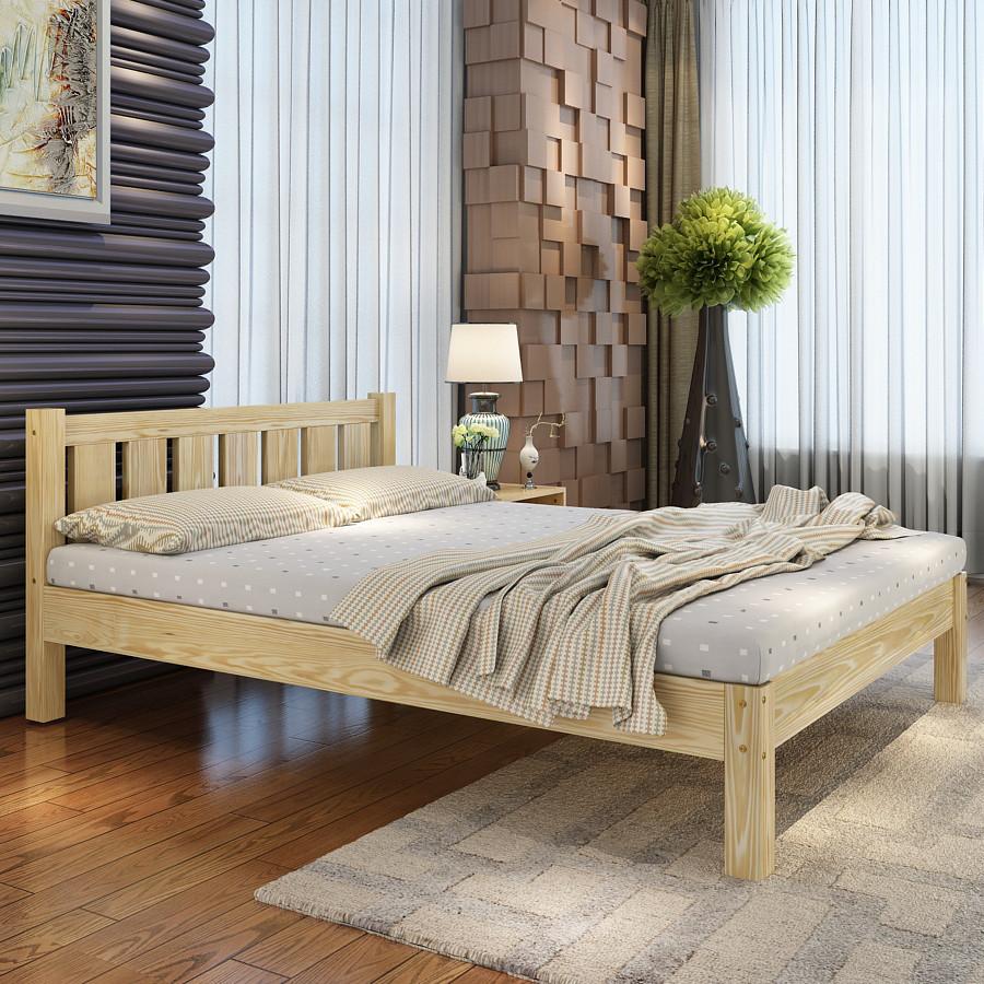 """Двухспальная кровать """"Монако"""" из массива"""