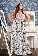 Эфектнное длинное платье из шелка и шифона, фото 1