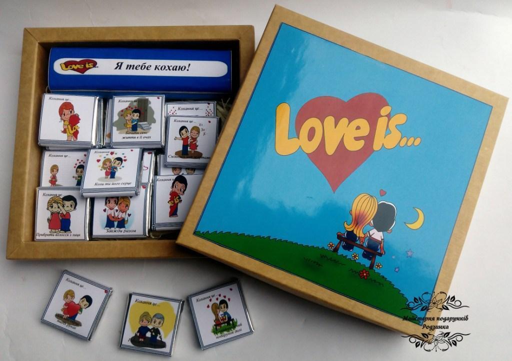 """Шоколадний набір """"LOVE IS"""" 120 грам"""