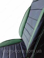 Чехлы на сиденья Сузуки Гранд Витара 3 (Suzuki Grand Vitara 3) (универсальные, кожзам, пилот СПОРТ) черно-зеленый