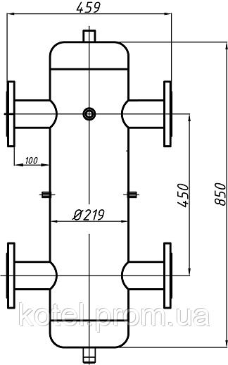 Размеры гидравлической стрелки СК-30