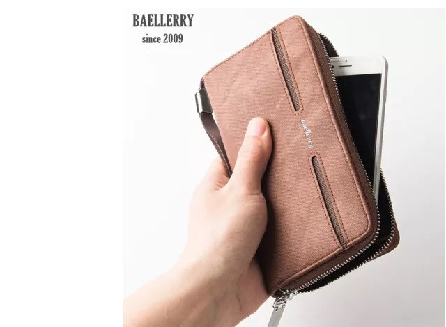 c413da87d185 Мужской портмоне-клатч с ручкой Baellerry Jeans S1512 - Интернет-магазин