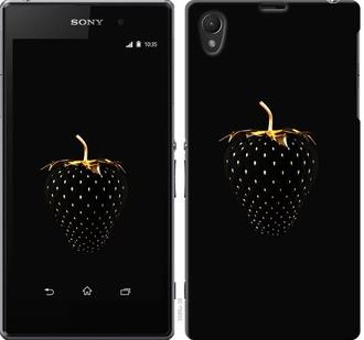 "Чехол на Sony Xperia Z1 C6902 Черная клубника ""3585c-38-19380"""